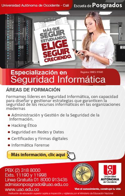 Especializacion Seguridad Informatica ¿Dónde estudiar seguridad informática en Colombia?