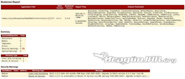 Reporte html