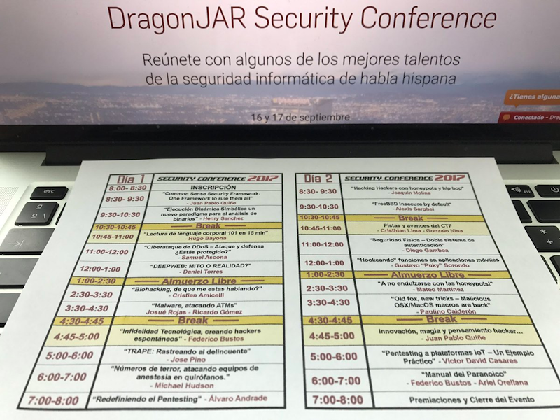 Novedades del DragonJAR Security Conference 2017